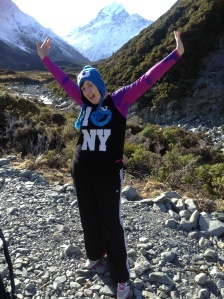 On the Hooker valley track in Aoraki/Mt Cook National Park, New Zealand in July 2014